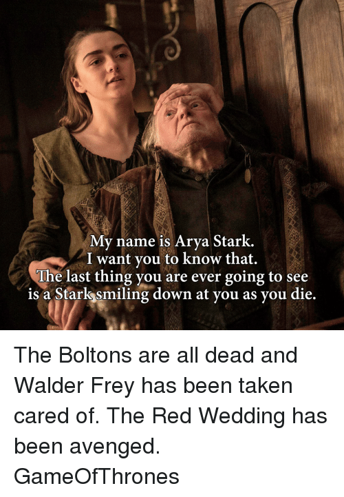 When Is The Red Wedding.Has Anyone Mentioned House Frey S Elimination Should It