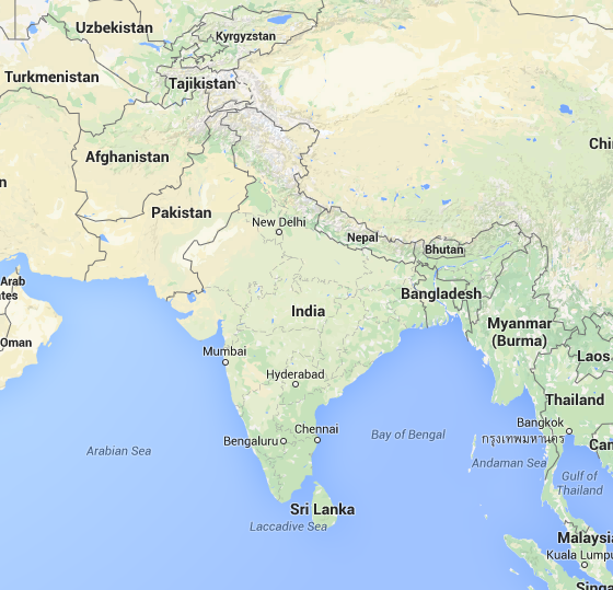 Google maps shows a clear border line between india pakistan google maps shows a clear border line between india pakistan china is it the true border line gumiabroncs Choice Image