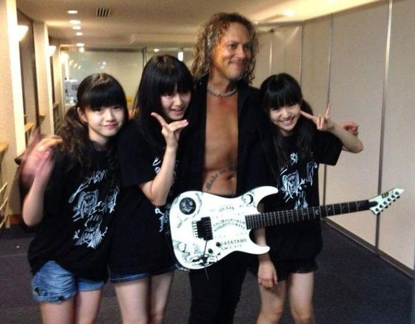 Will metallica collaborate with babymetal in the future quora to find out more check out this link babymetal meet members of metallica slayer carcass deftones more metal injection m4hsunfo Gallery