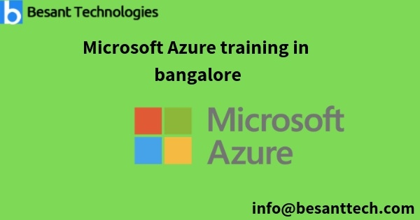 Which is the best Azure training institute in Bangalore? Is