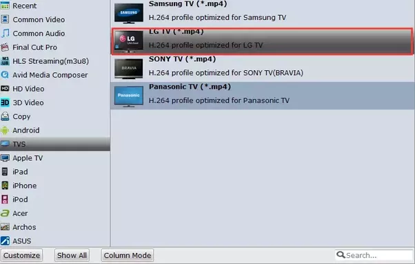 Why wont my lg tv play my 4 video files quora step 2 select output format ccuart Images