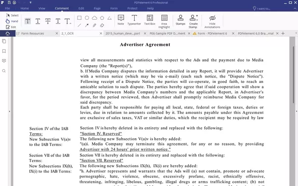 how to select text in a scanned pdf document