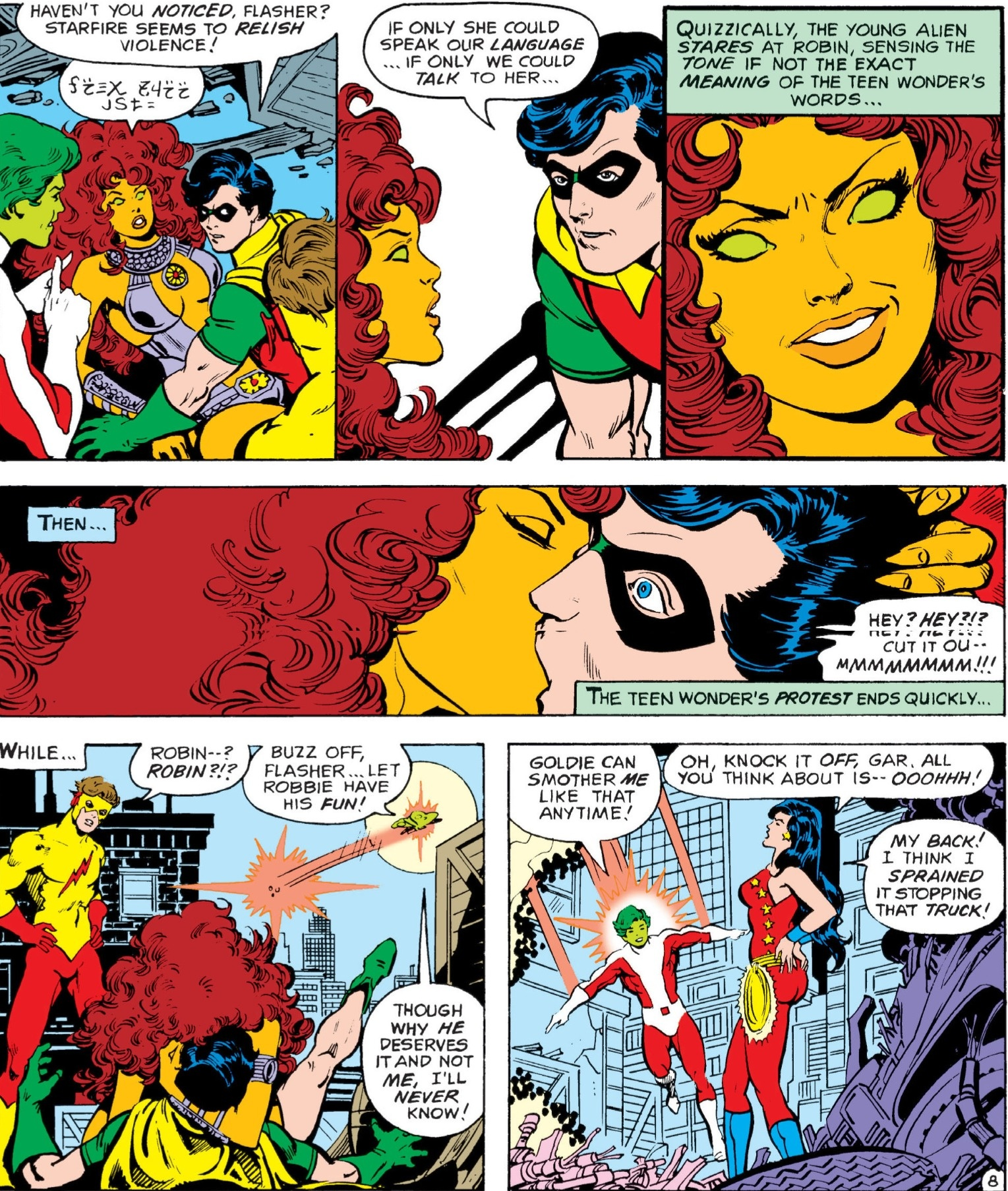 Did robin and starfire get married