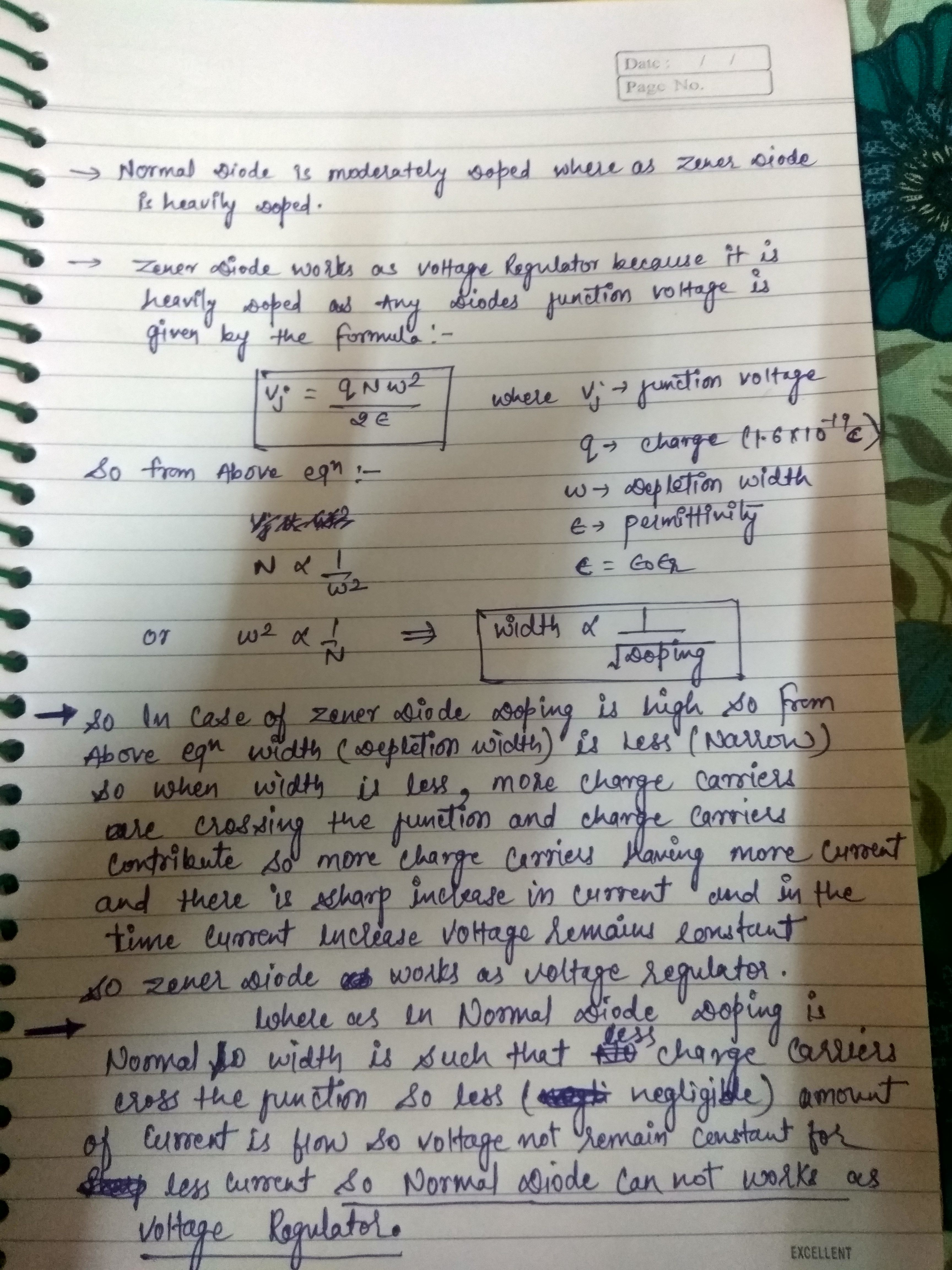 Why Cant We Use A Normal Diode As Voltage Regulator In Reverse And Zener Simple Circuit Hope You Understand