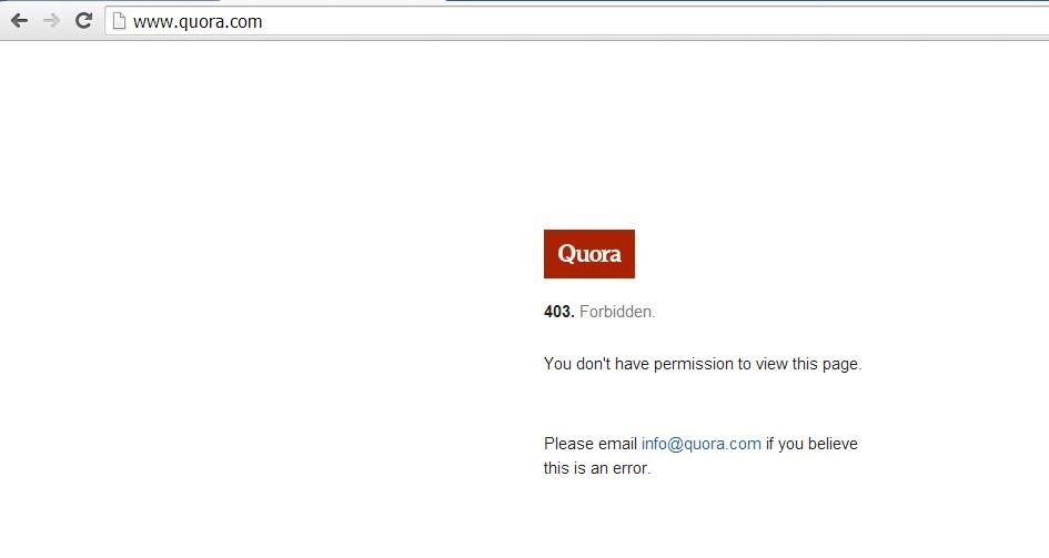 Quora Bugs Why Does Quora Keep Saying Forbidden You Don T Have