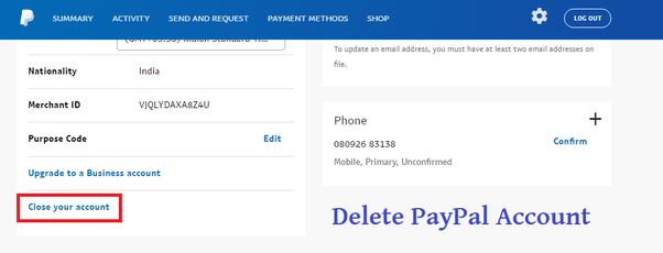 How to delete a PayPal account - Quora