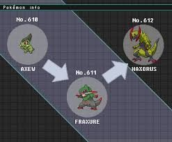 What Is The Evolution Chart Of Haxorus Quora