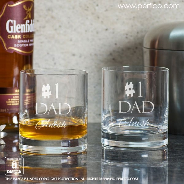 as a dad i think these personalized whiskey glasses would definitely do the trick - What Do I Get My Dad For Christmas