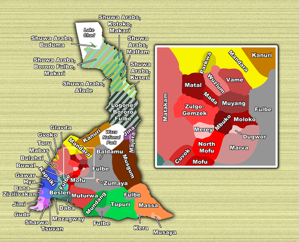 What Languages Isare Spoken In Maroua Cameroon Quora - Cameroon language map