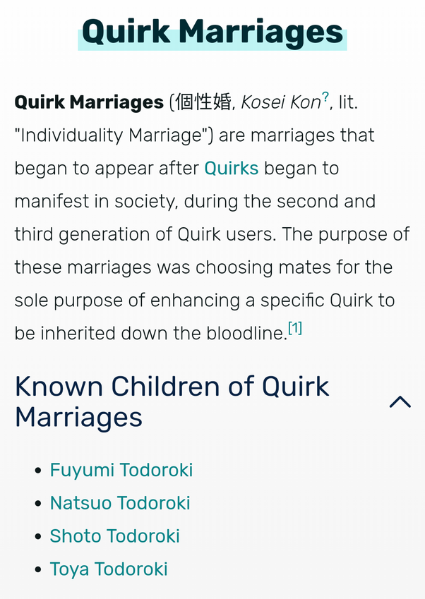 What are Quirk marriages in My Hero Academia? What are some