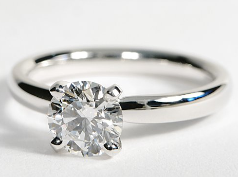 claw diamond floating wedding product engagement rings home solitaire ring with round plain side setting er in