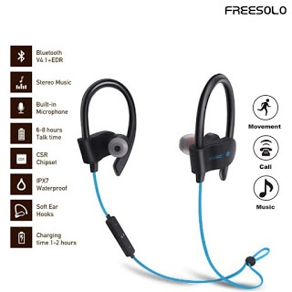 44c2e12a562 Freesalo earphone specially designed for Running, Jogging, and the use at  the gym its magnetic design lets you attach the earbuds together so that  you can ...