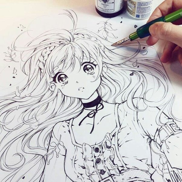 A manga drawing by a professional