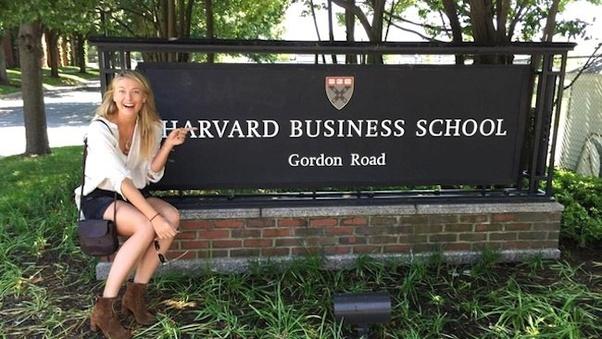 How did Maria Sharapova get into Harvard Business School