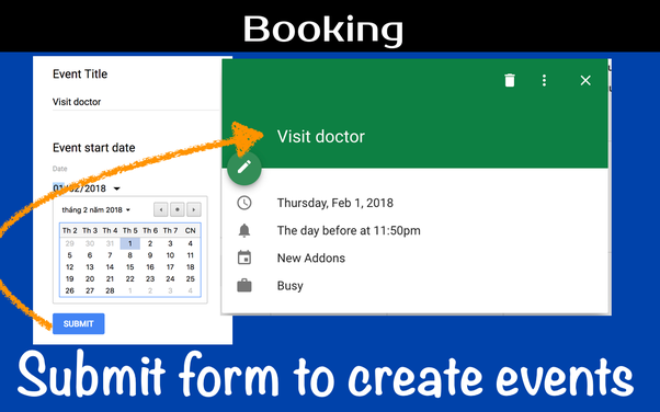 Create Google Calendar Event Link