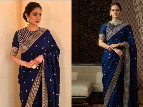 d1a4de84c3f7b What blouse suits a blue colored saree  - Quora