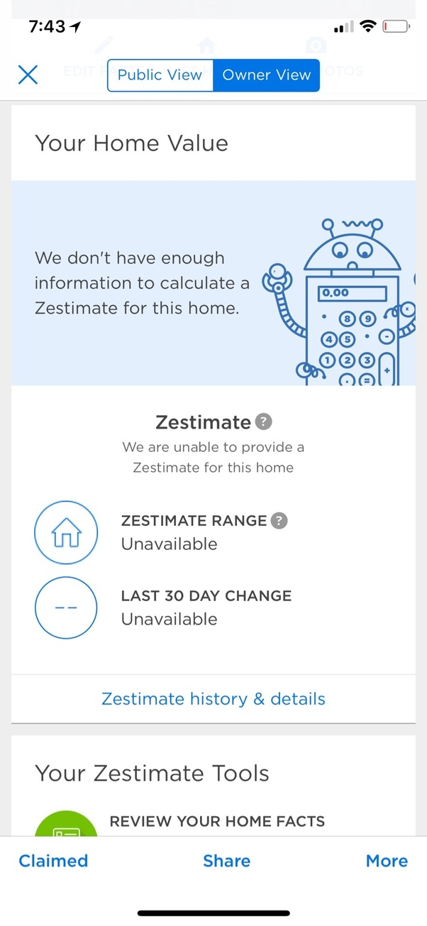 How to eliminate Zestimate from my house listing on Zillow