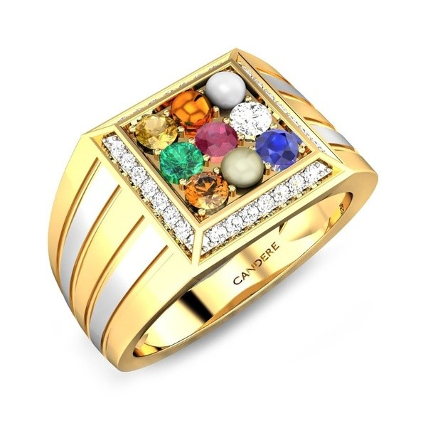 Is there any specific order of arranging Navratna stones in a ring