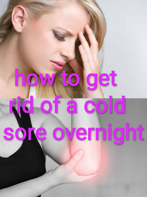 How to get rid of cold sore scabs - Quora