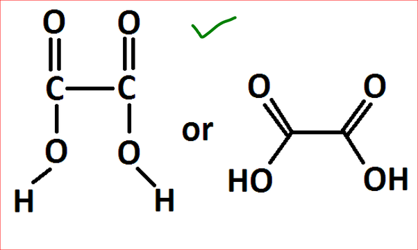 How To Determine The Lewis Structure For H2c2o4 Quora