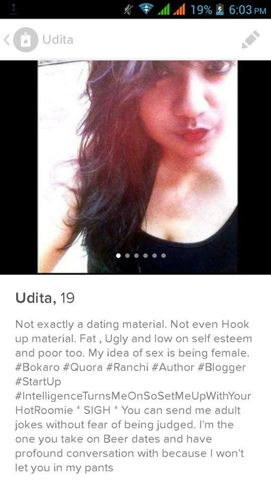 About me questions for hookup profile