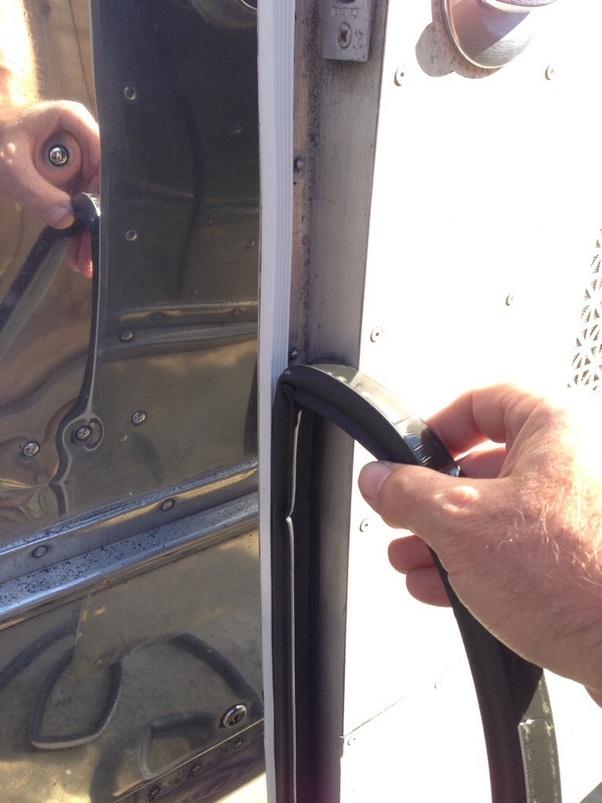 Install Door Sweep. Better Sound Insulation And Sealing Of The Door Is  Achieved With The Door Sweeps. They Close The Gaps Between The Bottom Of  The Door And ...