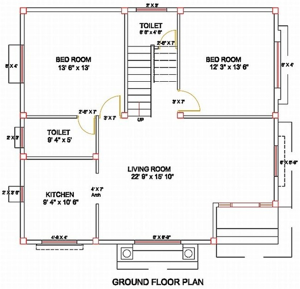 How To Apply Columns And Beams In The Plan Of Building Quora