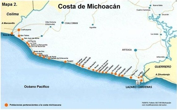What Are Some Good Maps Which Show The Various Regions Of - Michoacan mexico map