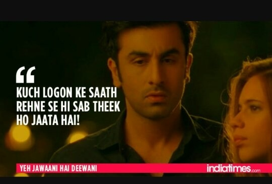Which Are Famous Dialogues Of Yeh Jawani Hai Deewani Quora