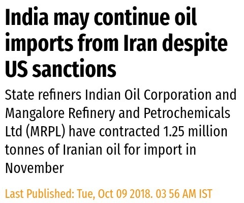 India to Buy Oil from Iran