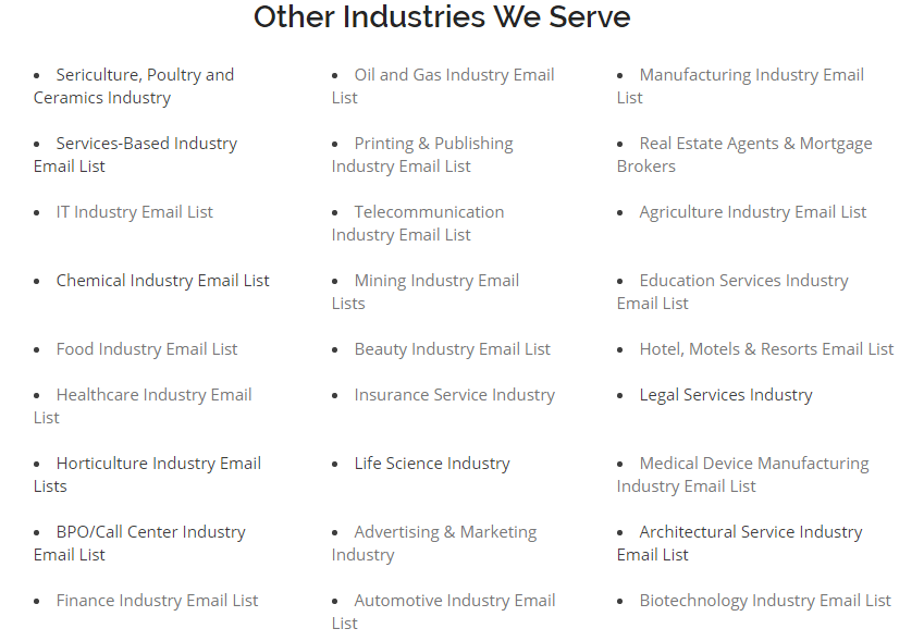 Where can I avail the best commercial printing email list