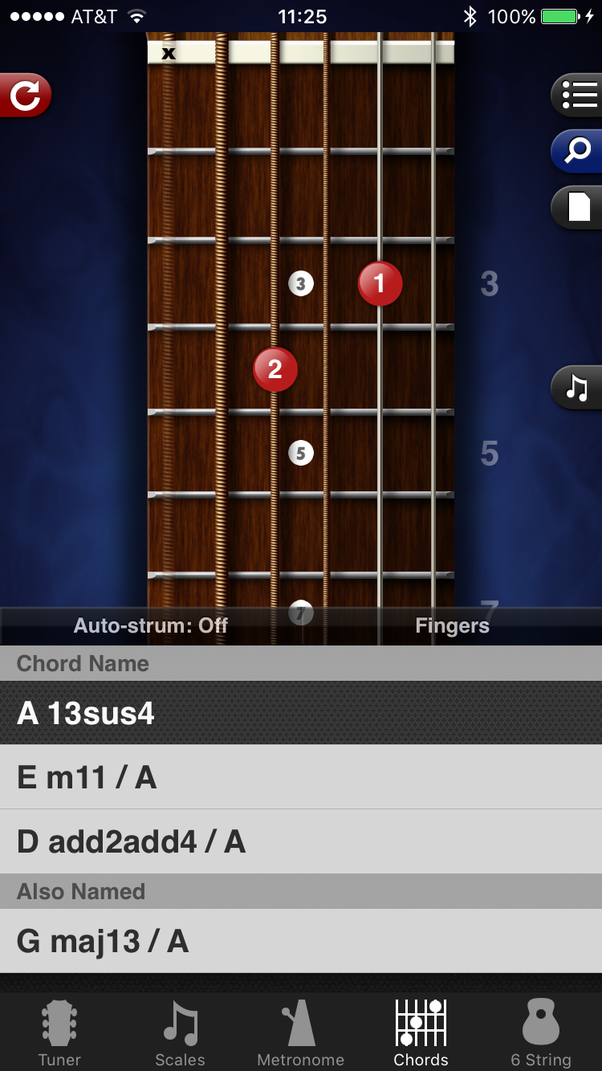 What Is The Name Of The Guitar Chord Thats Like An Open Am7 But