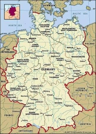 Map Of Germany And Surrounding Countries.What Are The Countries That Border Germany Quora