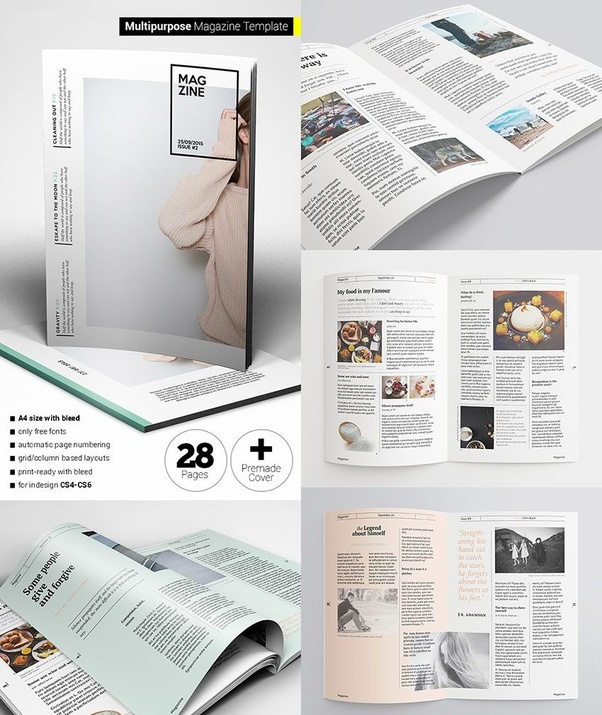 Magazine Design Standard Template Quora