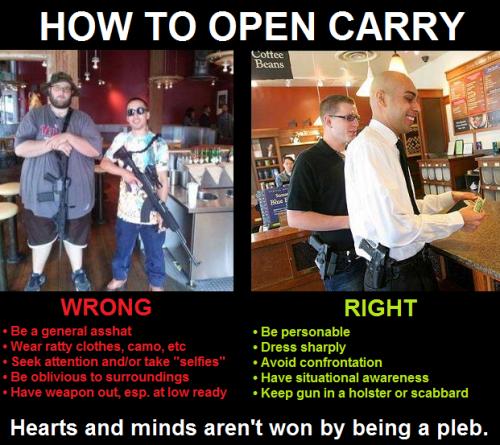 Open carry gun assholes