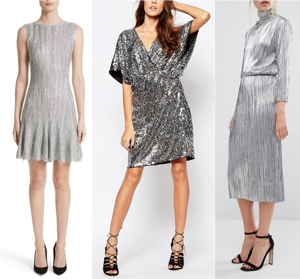 6b64155423e0 What color shoes should I wear with a silver dress  - Quora