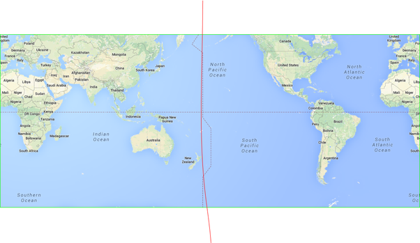 Which point of the world is furthest west quora at the equator there is only sea the area to the right of this red line is the western hemisphere the dateline sort of follows 180 but wanders a bit gumiabroncs Choice Image