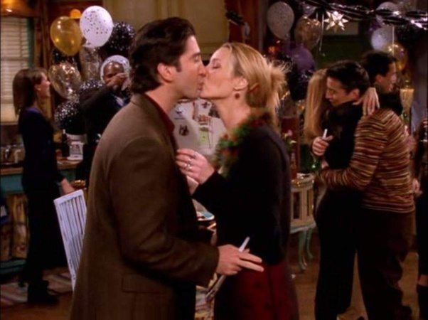 Ross Kissed Joey In Season 2 Episode 24 The One With Barry And Mindy S Wedding Because Needed To Practice A Kiss For Role