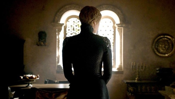Image result for Game of Thrones Season 8 Cersei on the balcony
