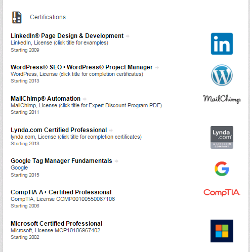 is it worth to put certificates on my linkedin profile quora