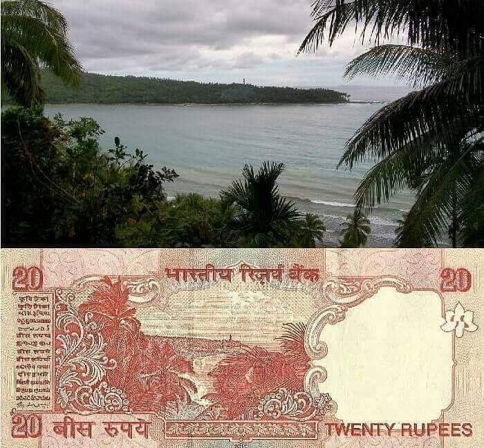 What monument is printed on the 200 rupee note (Indian