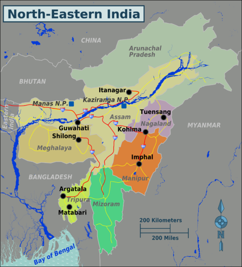 Why is the northeast part of India called Seven Sisters? - Quora