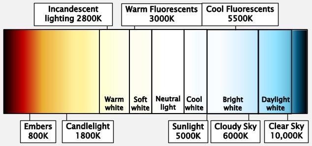lightbulb color spectrum