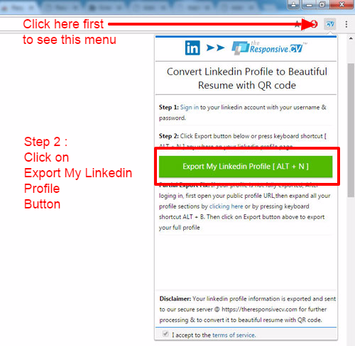 how to download my linkedin profile as pdf document