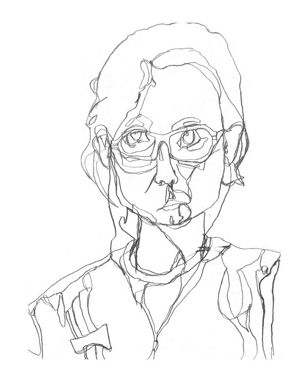 Contour Line Drawing People : Why can t i and many people draw is there a mental