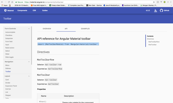How to add/implement an angular material plugin in an