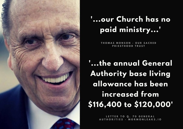 Image result for mormon general authorities paid