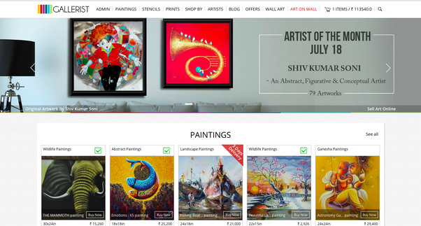 Where And How Can I Sell Paintings In India Online Quora