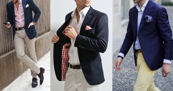 Which trouser colour will be best for a navy blue blazer ...