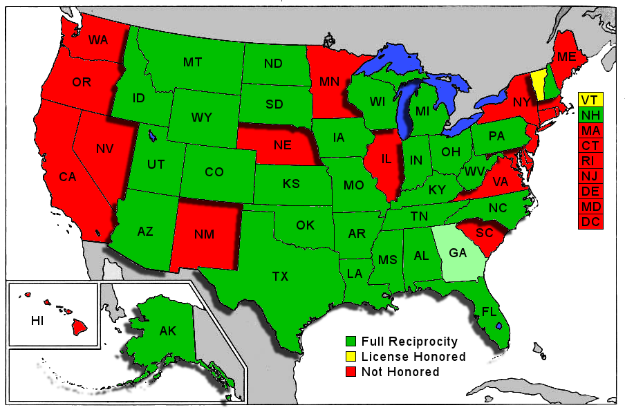 Georgia Concealed Carry Reciprocity Map What are the biggest rivalries that exist between two states of